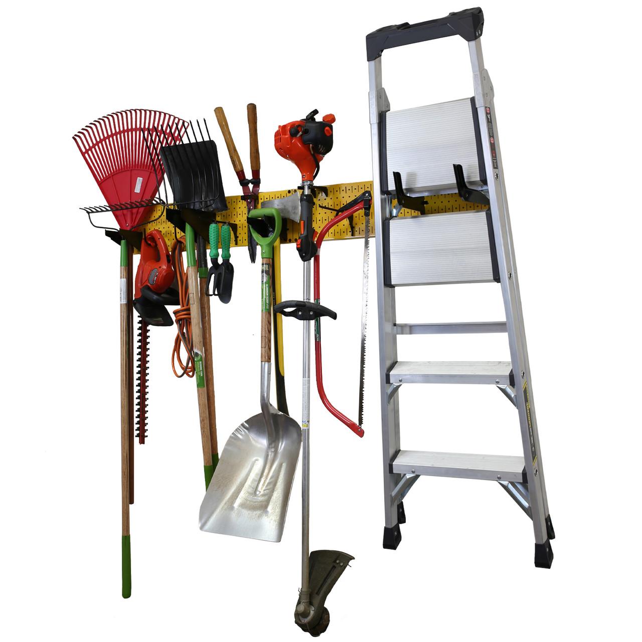 4 Pack Pegboard Baskets Organize Tools Shelf Storage Box Steel Garage Wall