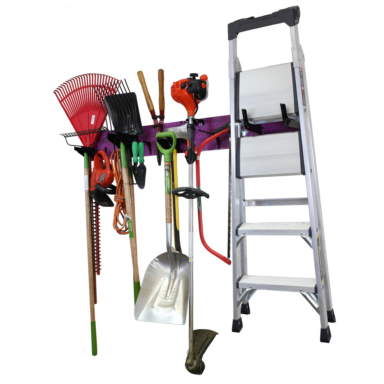 "Pegboard Garage Storage 96/"" Wide Tool Rack NEW!! Hand /& Garden Tool Organizers"
