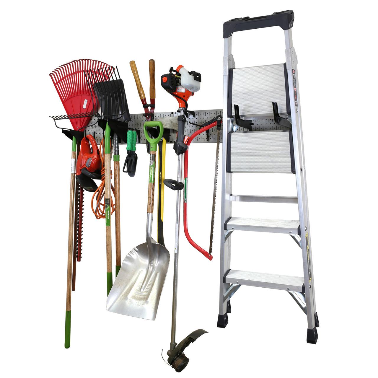 Garage Storage Lawn Garden Tool Organizer Rack Wall Control
