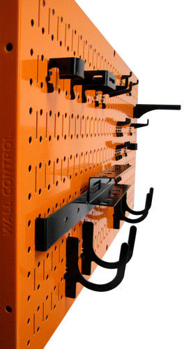 Orange Metal Pegboard Horizontal Steel Wall Control