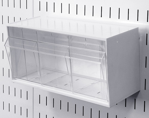Tip Out Bins Slotted Pegboard Plastic Hanging Bin Wall