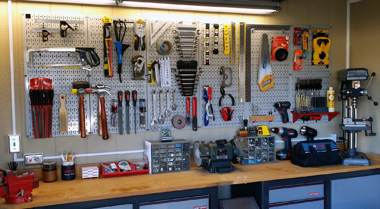 Work Bench Peg Board Masterpiece Wall Control Pegboard