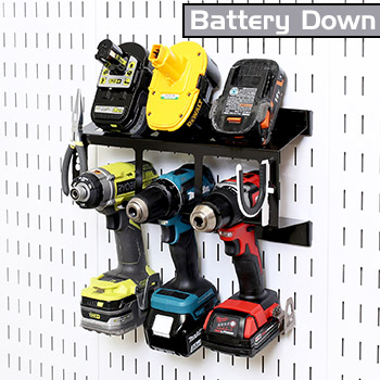 Battery Down Power Tool Drill Holder Storage