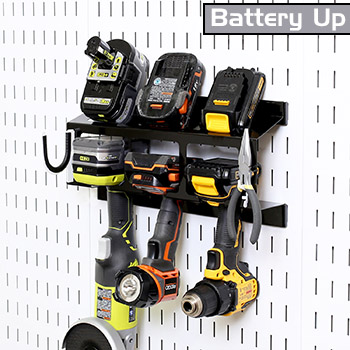 Battery Up Power Tool Drill Holder Storage