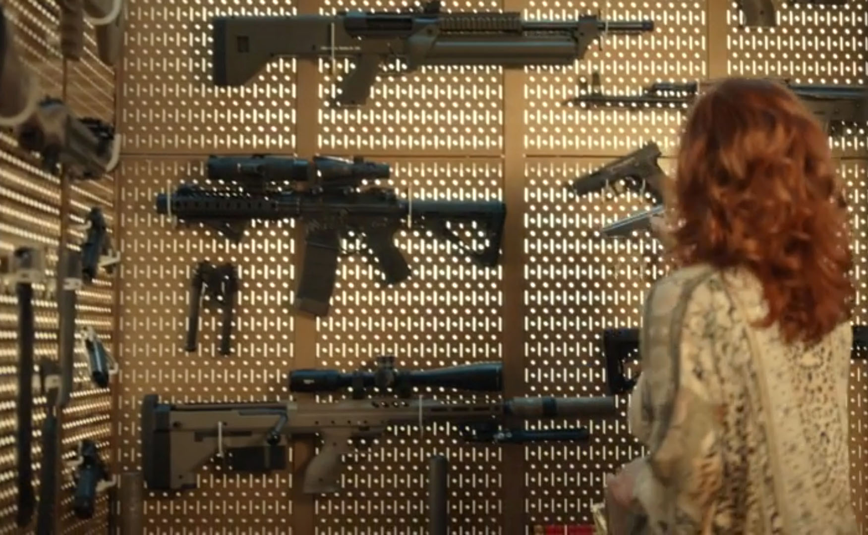 wall gun rack storage pegboard