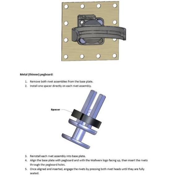 How to Install Wallwerx Storage Jars on Wall Control Pegboard
