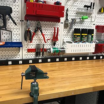 Wall Control Pegboard Power Strip Charging Station Outlet Rail
