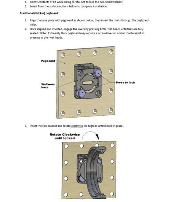 Wallwerx Pegboard Jar Storage Rack Installation: Step 1