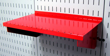 Slotted Pegboard Shelf 9in Metal Peg Board Shelf Wall