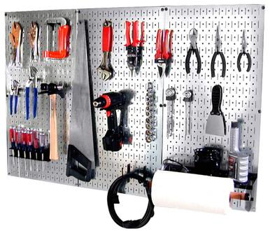 Metal Pegboard Tool Organizer Kit Basic Tool Pegboard