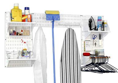 Wall Organizer Laundry Room Closet Rack Wall Control