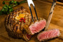"""Maxim Farm Japanese Wagyu A5 Thick Super Strip, cut to approx. 1""""-1"""" 1/2' thick, is a perfect way to add luxurious tenderness and rich umami-laden flavor to your next roast beef or BBQ gathering."""