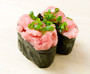 Sushi-grade medium fatty Bluefin tuna imported direct from Shizuoka, Japan, finely chopped, perfect for negitoro sushi.