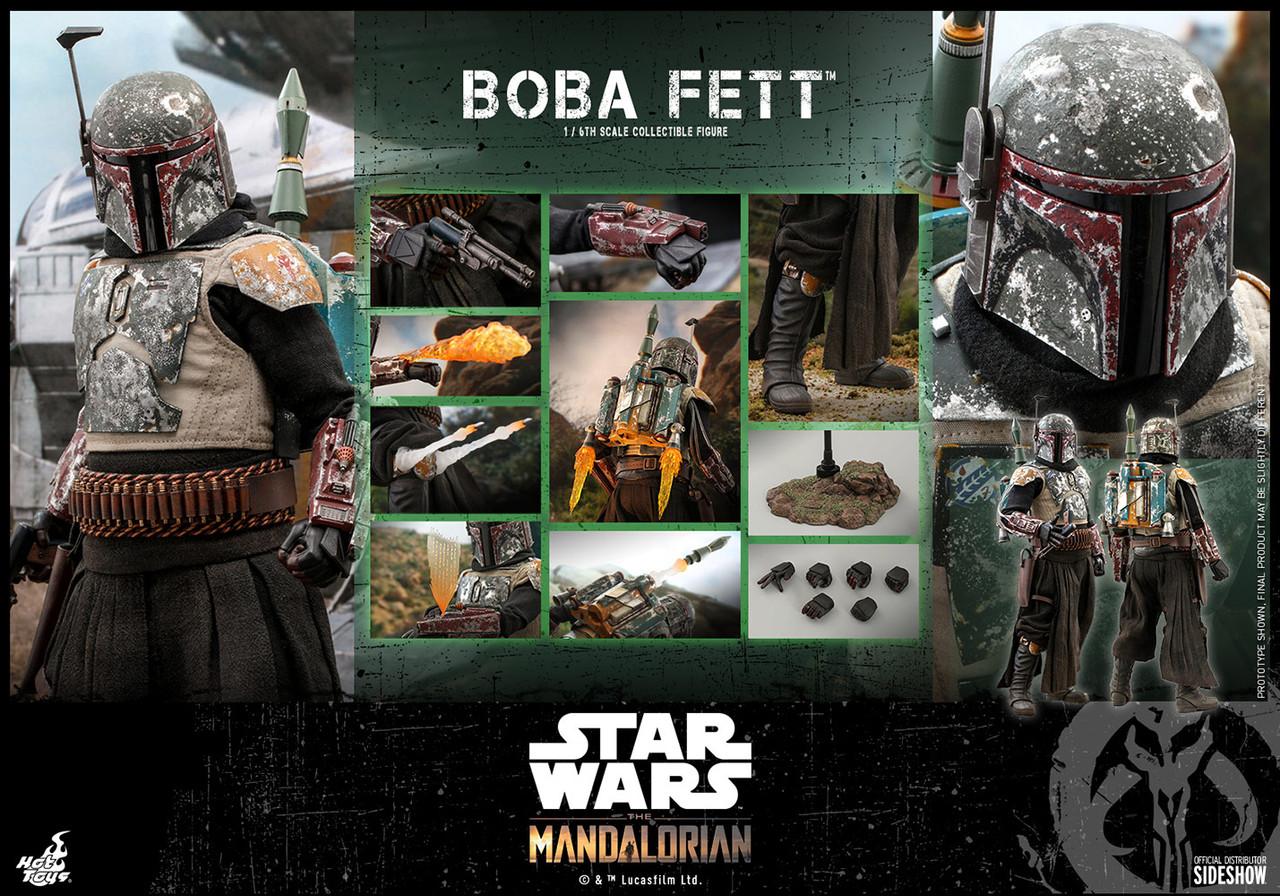 """Hot Toys 1/6 12"""" TMS033 Boba Fett Mandalorian Figure"""