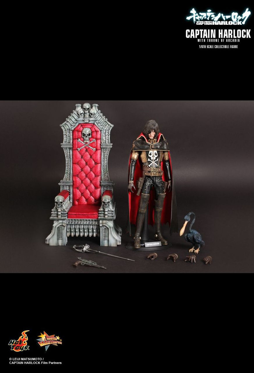 """Hot Toys 1/6 12"""" MMS223 Captain Harlock with Throne Figure"""