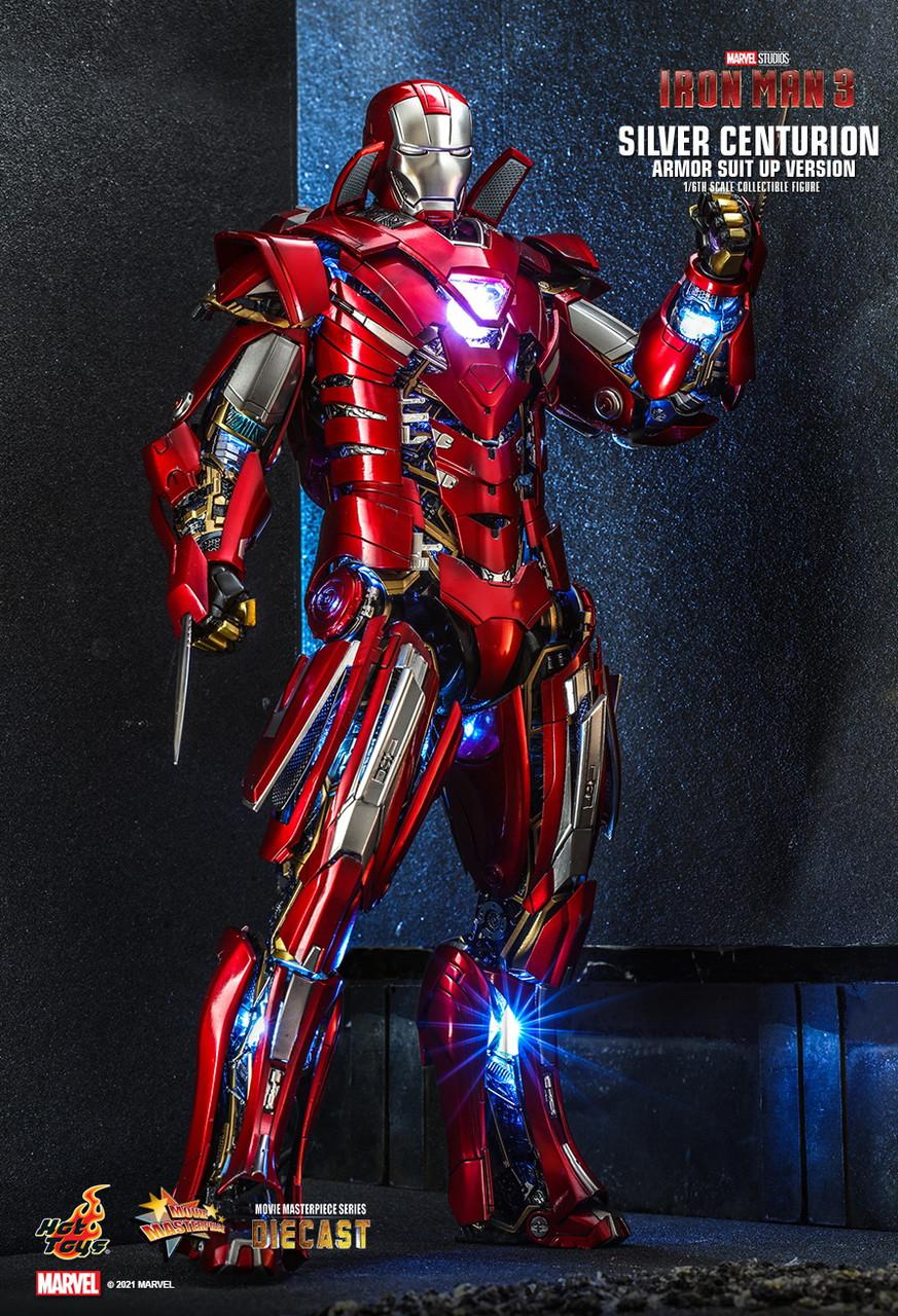 MMS618D43 Silver Centurion Armor Suit Up 3