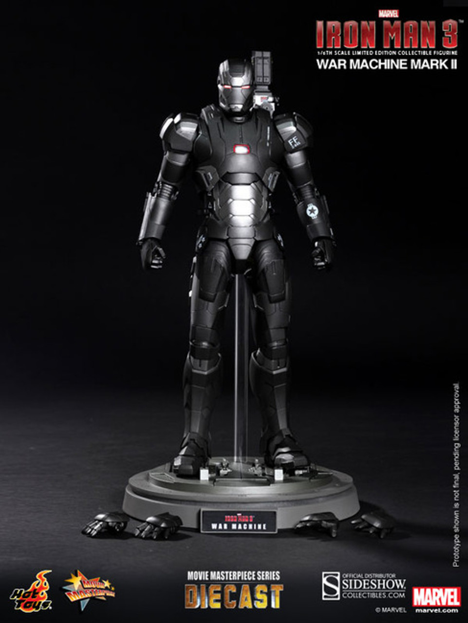 "Hot Toys 1/6 12"" MMS198D03 Iron Man Mark II War Machine Diecast Figure"