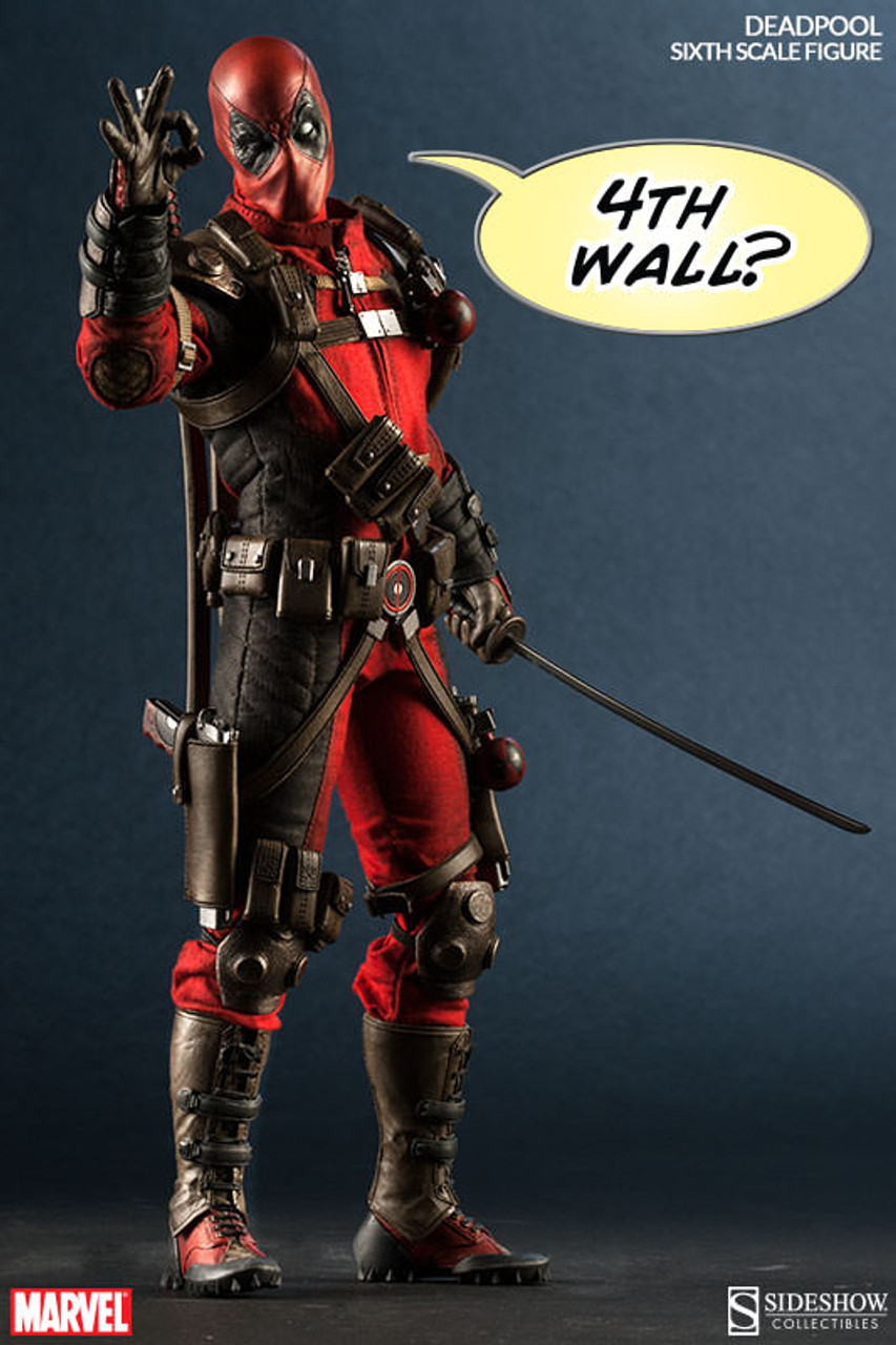 "Sideshow 1/6 12"" 100178 Deadpool Marvel Comics Action Figure"