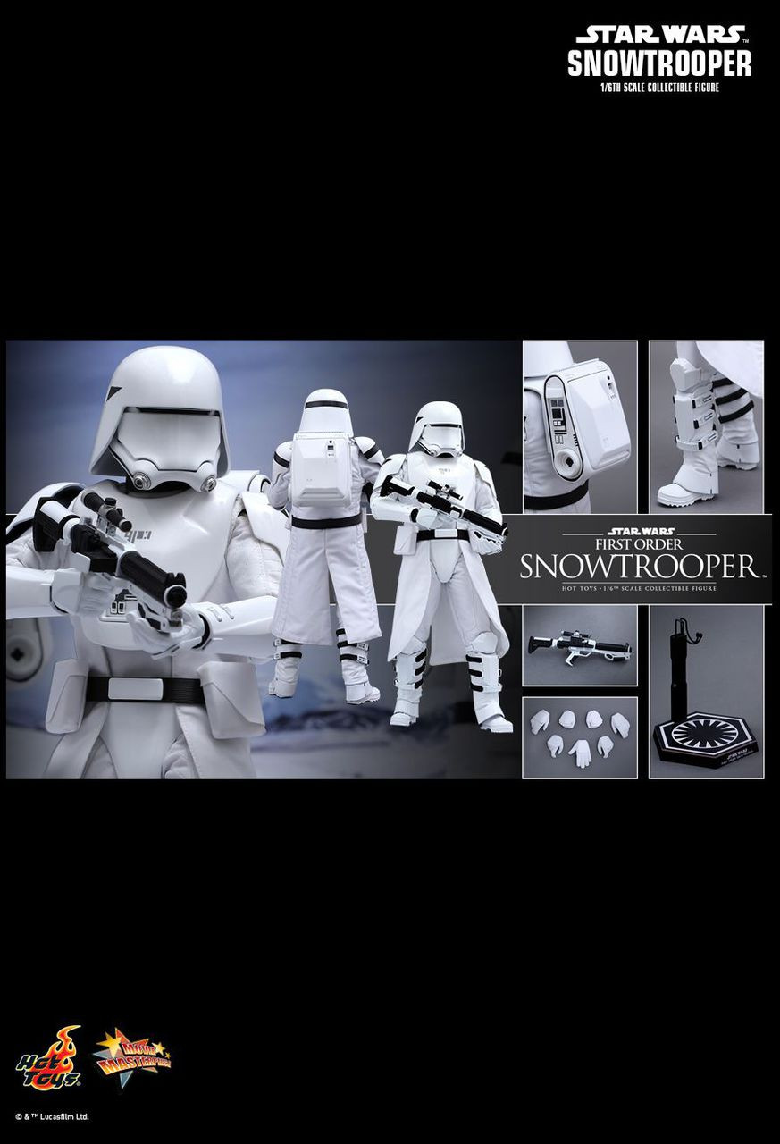"""Hot Toys 1/6 12"""" MMS321 Snowtrooper First Order Figure"""