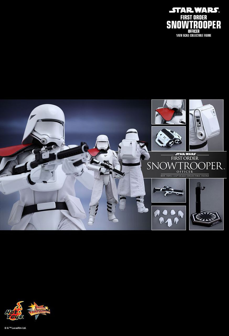 """Hot Toys 1/6 12"""" MMS322 Snowtrooper Officer First Order Figure"""