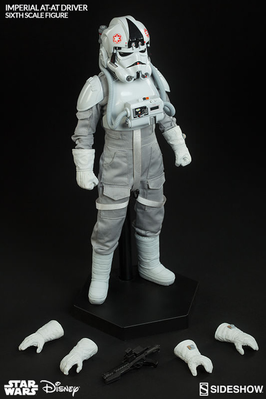 "Sideshow 1/6 12"" 100124 Star Wars Imperial AT AT Driver Figure"