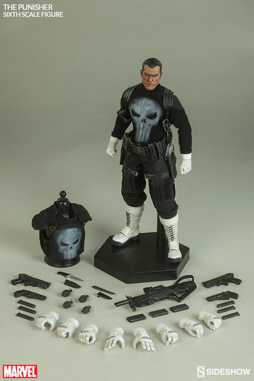 "Sideshow 1/6 12"" 100212 Frank Castle as The Punisher Figure"