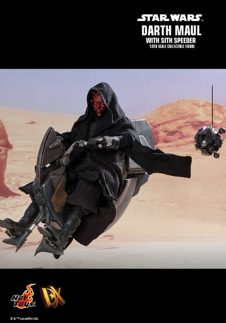 "Hot Toys 1/6 12"" DX17 Darth Maul w/Speeder Action Figure"