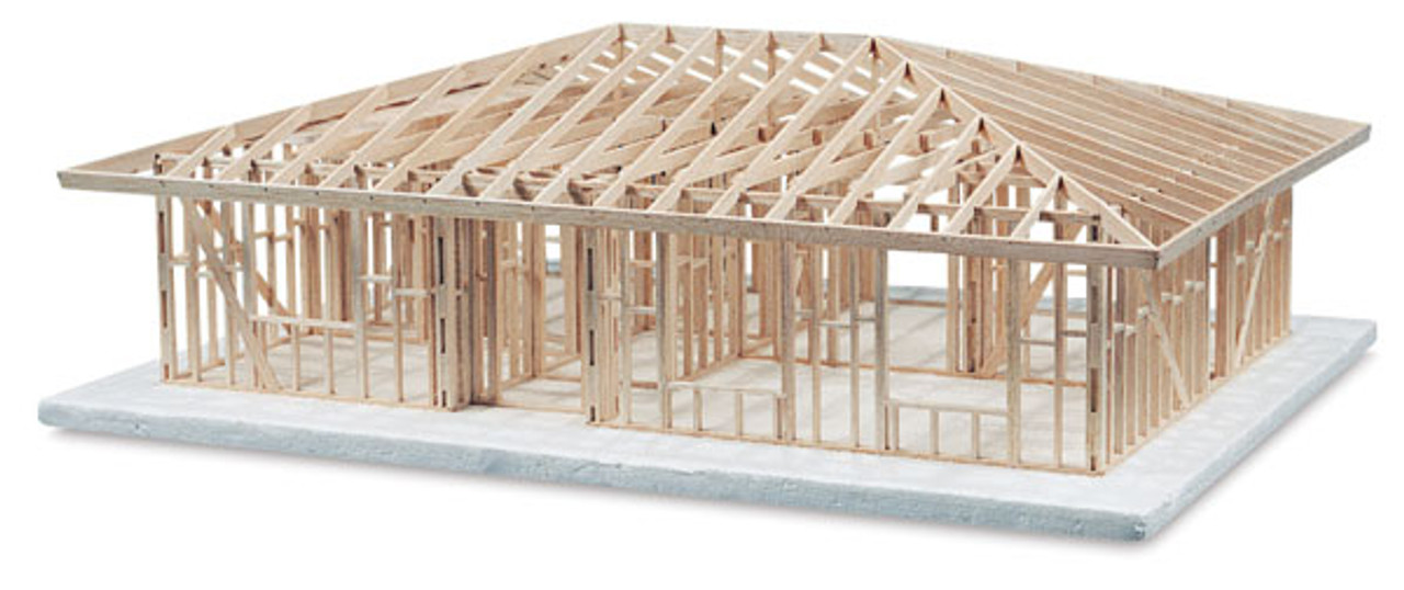 630304 Basic House Framing Kit Hip Roof Service Reproduction Company