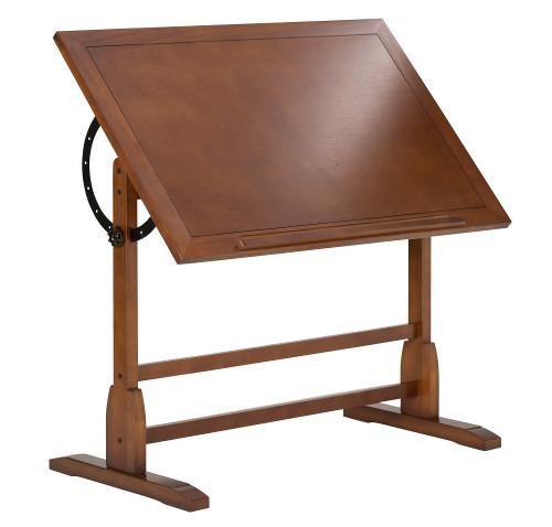 """700203, Vintage Wood Drafting Table, 42"""" x 30"""", Rustic Oak"""