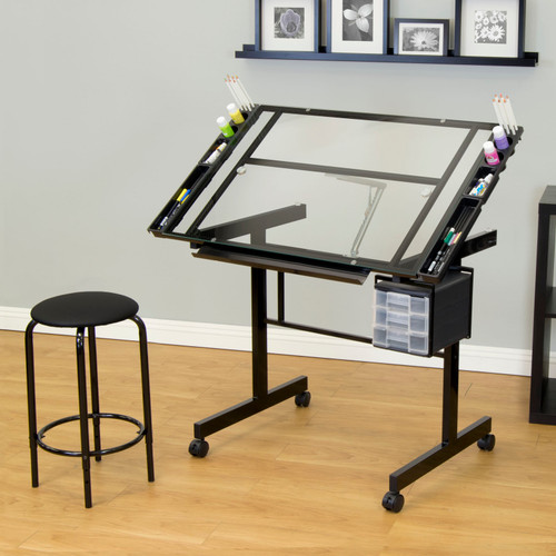 """700204, Vision 2 Piece Craft Center, Drawing Table and Stool, 24"""" x 36"""""""