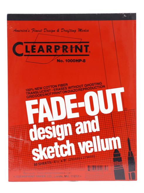 """313501, Fadeout Vellum, 8.5"""" x 11"""" 8x8, 50 Sheets"""