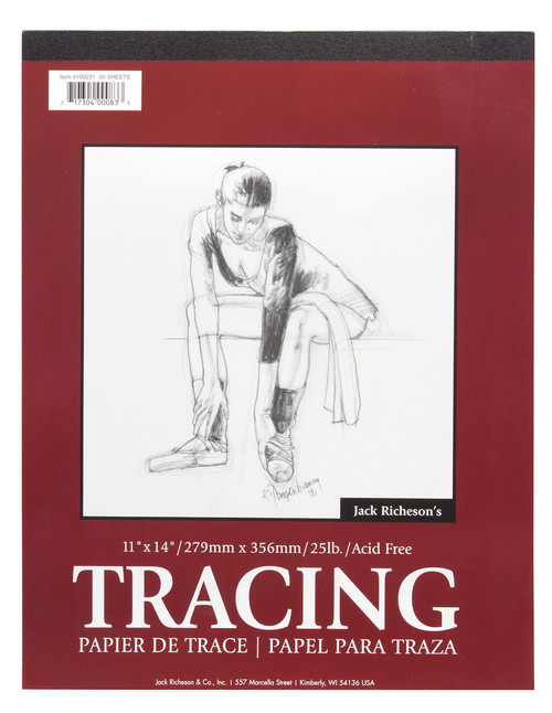 """341214, Parchment  Tracing Paper, 14"""" x 17"""" 50 sheets"""