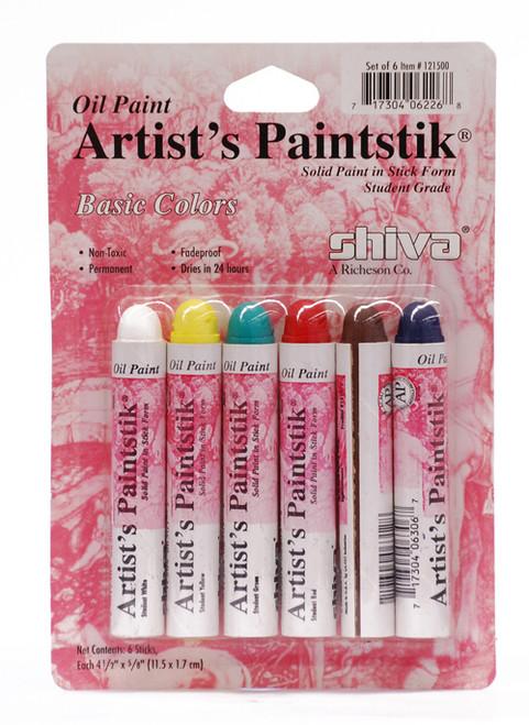 370900, Shiva Painstik, Student Set, 6/colors