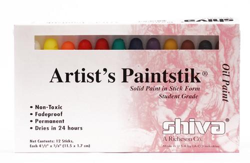 370901, Shiva Painstik, Student Set, 12/colors