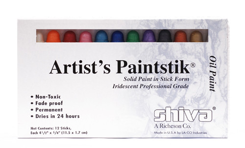 370909, Shiva Painstik, Iridescent Set, 12/colors