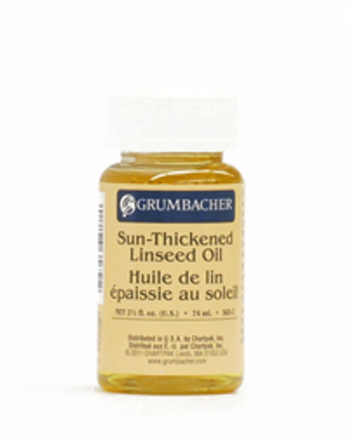 371815, Grumbacher Sun Thickened Linseed Oil, 2.5oz.