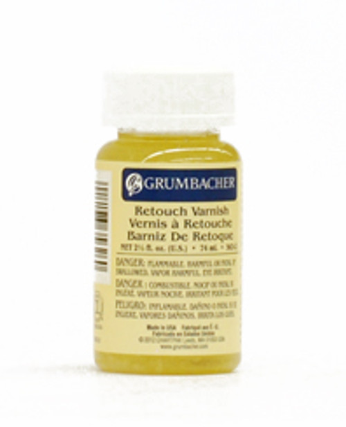 371818, Grumbacher Oil Retouch Varnish, 2.5oz.