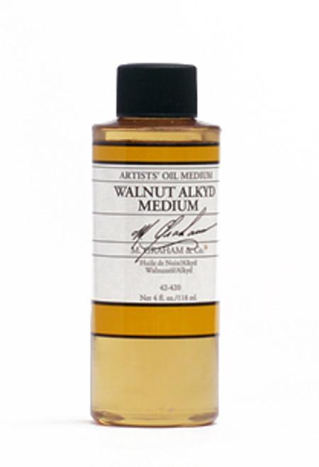 371842, M. Graham & Co. Walnut Alkyd Medium, 4oz.