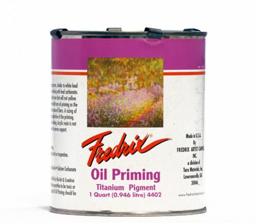 371850, Fredrix Oil Priming Gesso, Quart