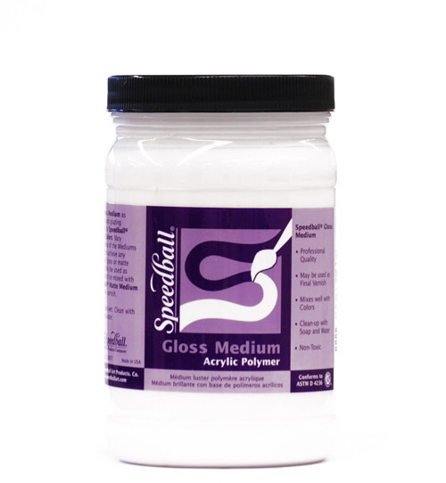 371400, Speedball Gloss Medium, 32oz.