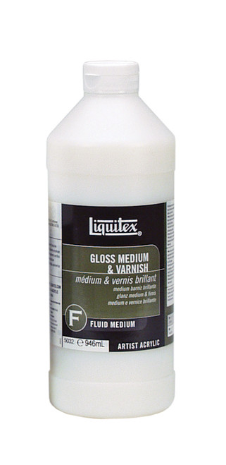 373103, Liquitex Professional Gloss Medium & Varnish, 32oz.