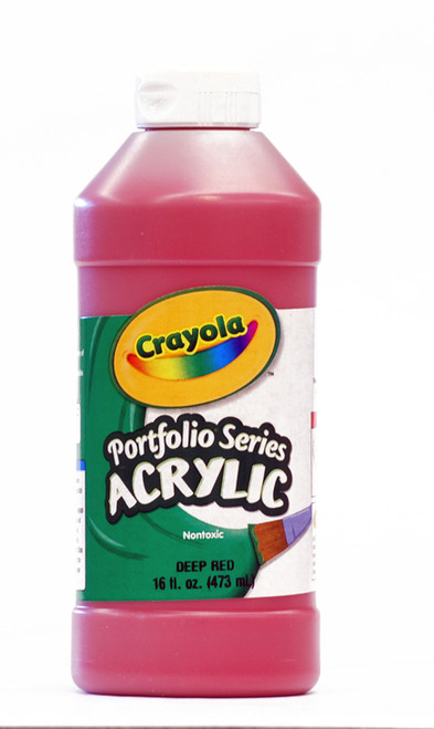 372272, Crayola Portfolio Acrylic, Deep Red, 16oz.