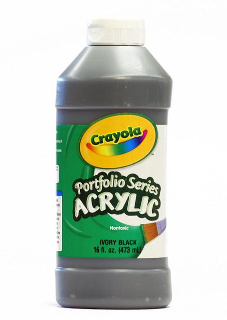 372276, Crayola Portfolio Acrylic, Ivory Black, 16oz.
