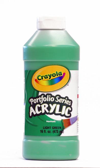 372278, Crayola Portfolio Acrylic, Light Green, 16oz.