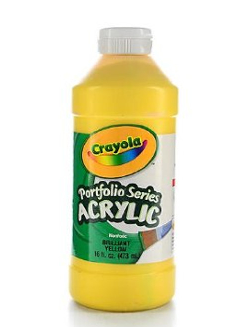 372294, Crayola Portfolio Acrylic, Brilliant Yellow, 16oz.