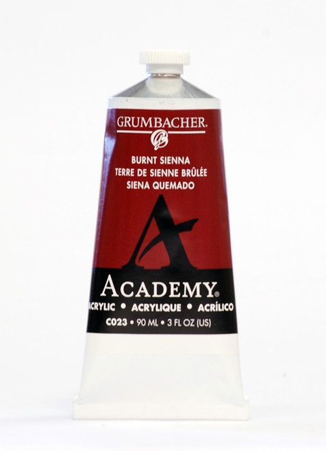 373501, Grumbacher Academy Acrylics, Burnt Sienna, 90ml.