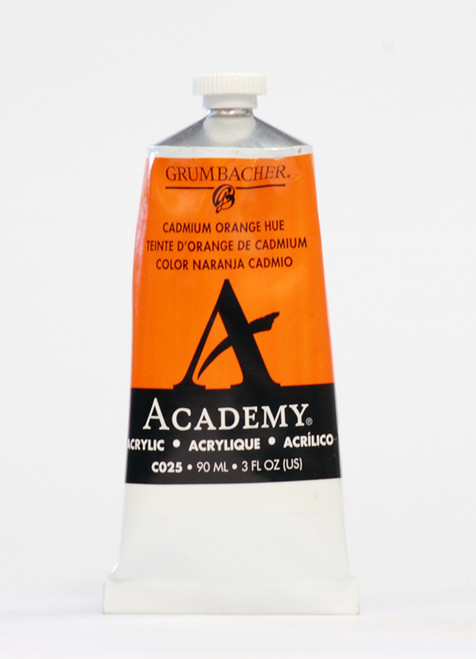 373503, Grumbacher Academy Acrylics, Cadmium Orange, 90ml.