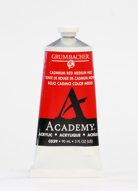373505, Grumbacher Academy Acrylics, Cadmium Red Medium, 90ml.