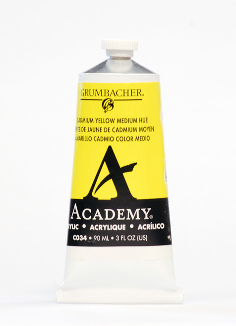 373507, Grumbacher Academy Acrylics, Cadmium Yellow Medium, 90ml.