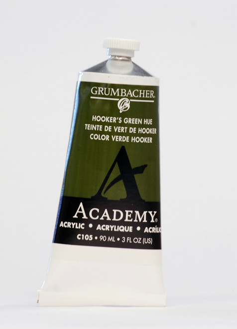 373513, Grumbacher Academy Acrylics, Hookers Green Hue, 90ml.